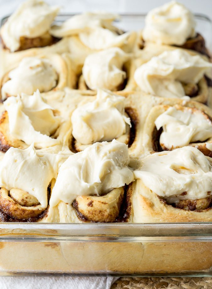This Super Easy Cinnamon Rolls Recipe is so delicious! Soft and tender and filled with loads of that gooey cinnamon flavor!