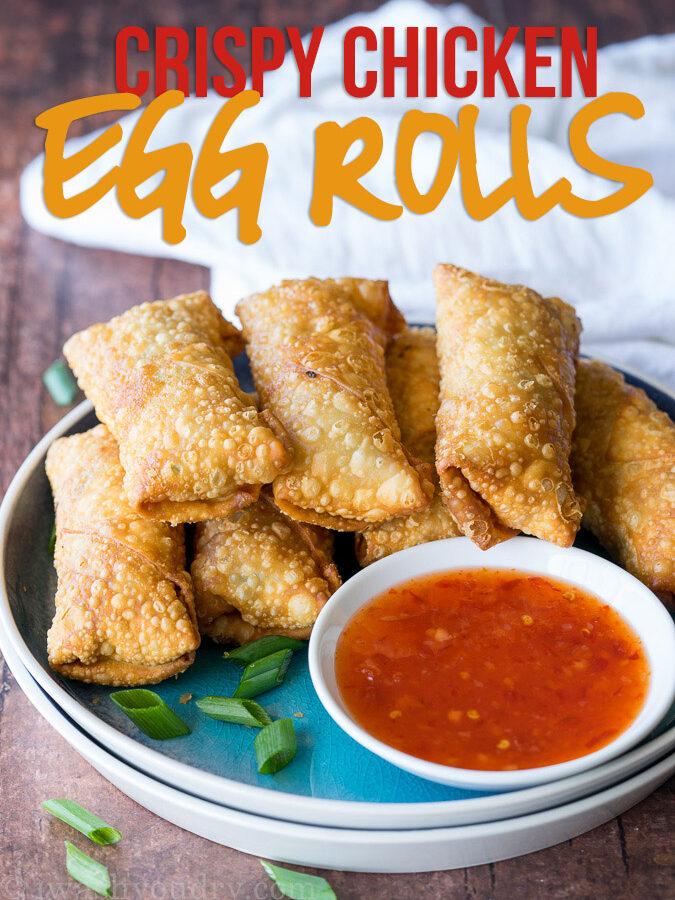Crispy Chicken Egg Rolls Recipe