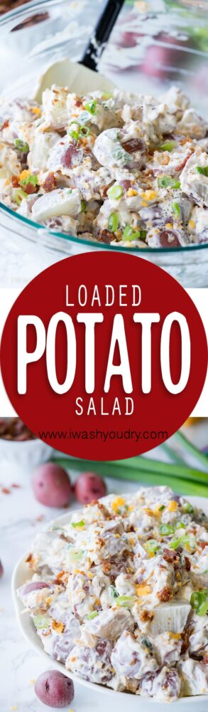 This Loaded Baked Potato Salad is a family favorite side dish recipe! So easy and full of flavor!