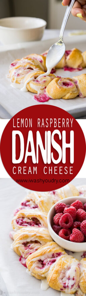 These Lemon Raspberry Cream Cheese Danish Rolls are a family favorite! Everyone loves them, and I love how easy they are to make!