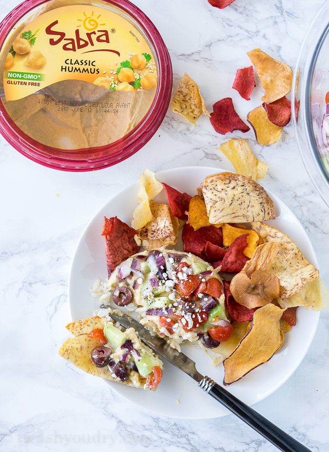 We served these Mediterranean Hummus Stacks at our girl's night and they were a huge hit!