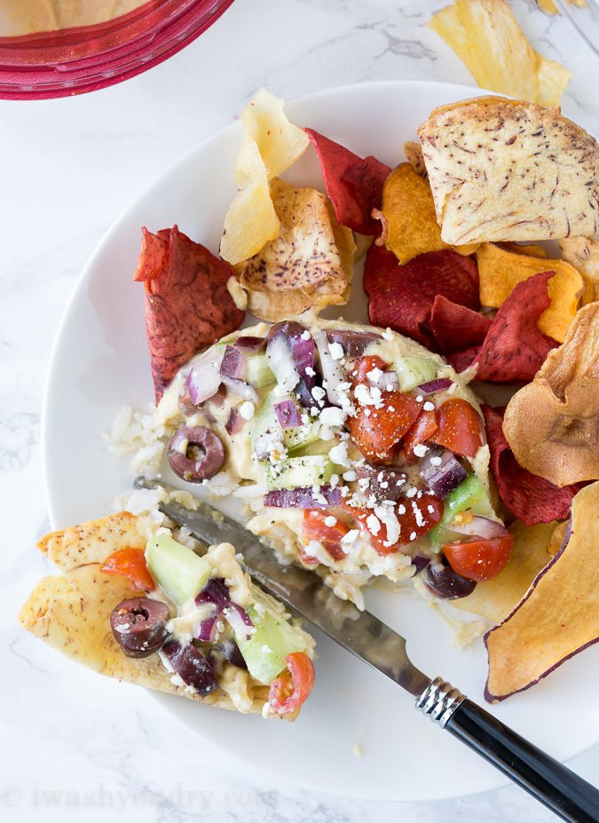 I can't wait to make these Mediterranean Hummus Stacks again! The @Sabra hummus definitely takes it to the next level!