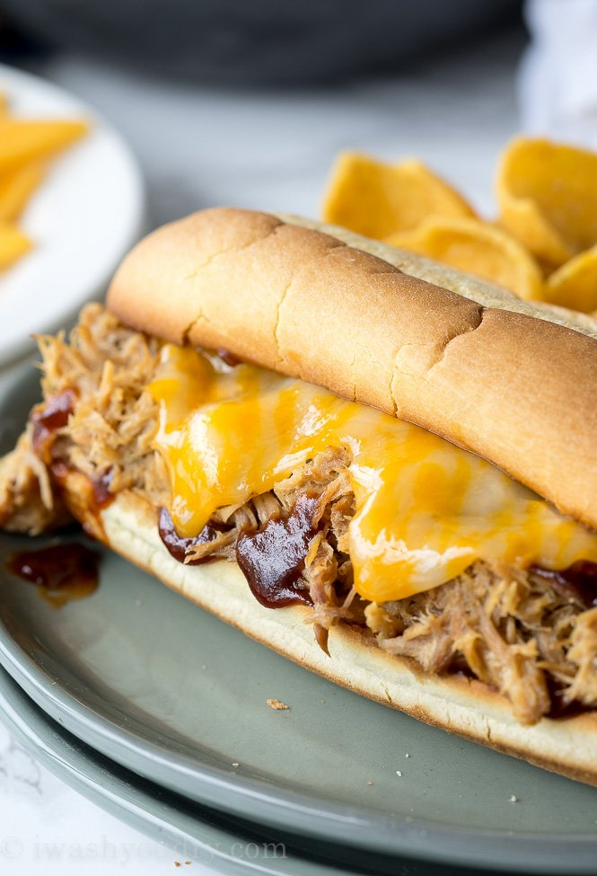 My whole family loved this Crockpot Pulled Pork! We eat it on sandwiches, over salads and even as tacos!