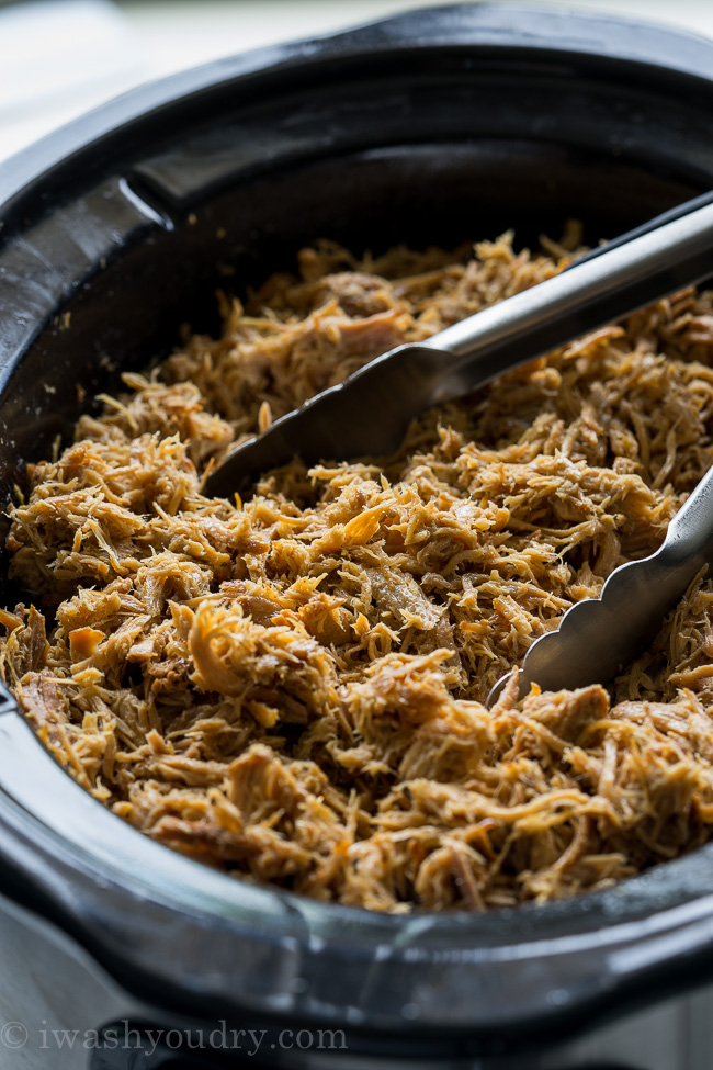 My whole family loved this Pulled Pork Slow Cooker Recipe! We eat it on sandwiches, over salads and even as tacos!
