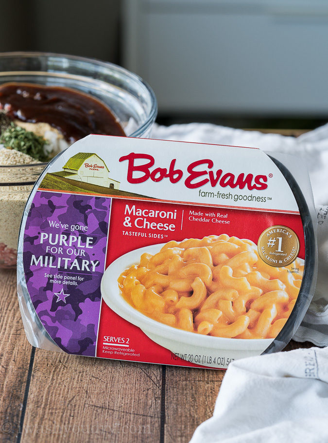 Bob Evan's Macaroni and Cheese is the perfect addition to this weeknight dinner recipe!