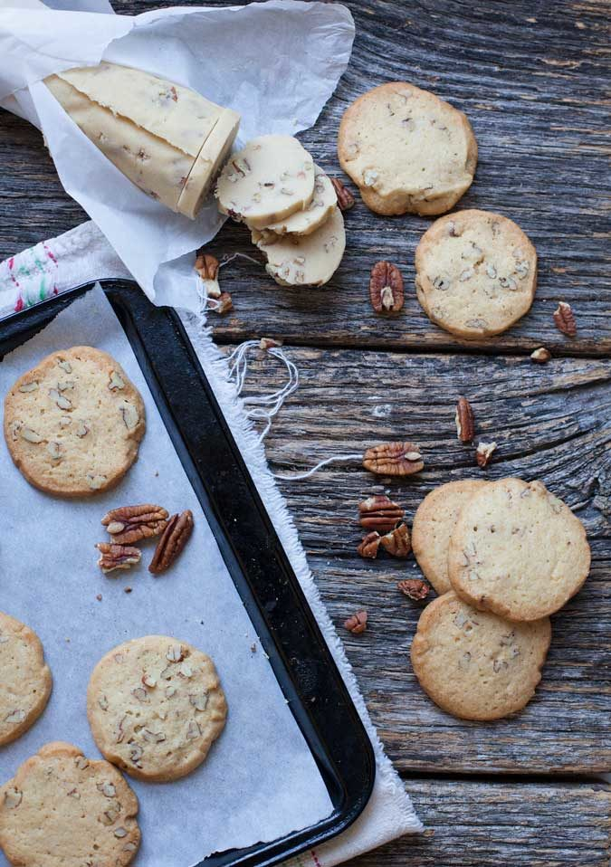How to Freeze Cookie Dough: Vanilla Pecan icebox cookies are the perfect base for all kinds of desserts.