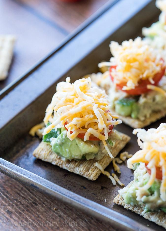 Delicious Avocado Tuna Melt Bites are such an easy appetizer recipe!