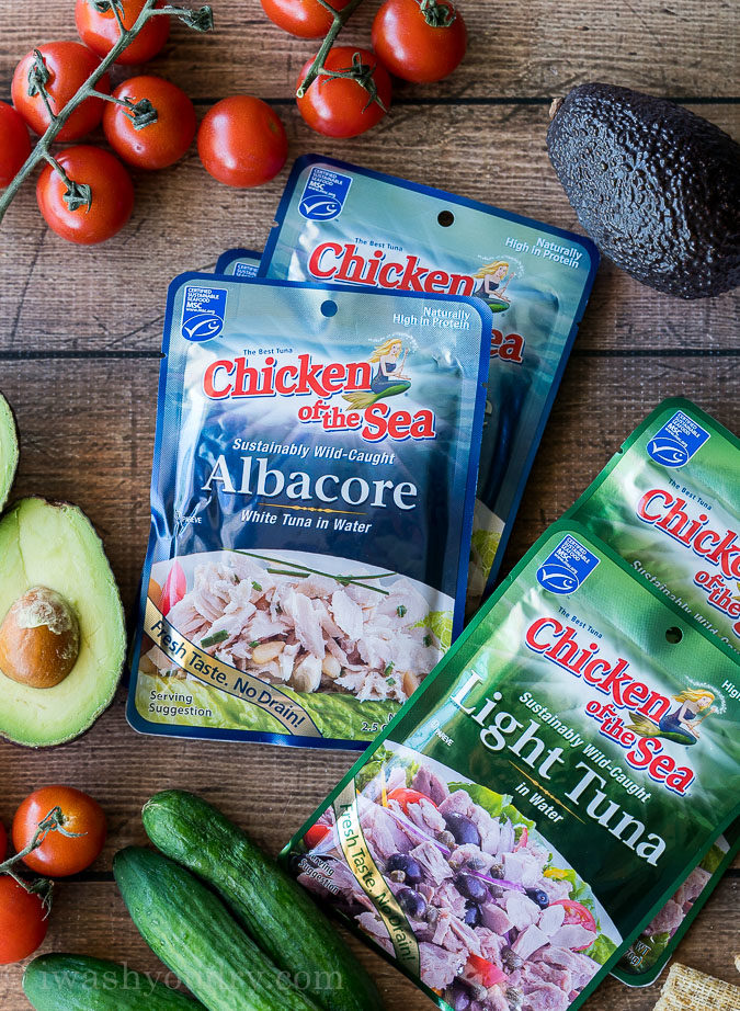 These Albacore Tuna pouches from Chicken of the Sea are NO DRAIN, which make them perfect for quick lunches and snacks!
