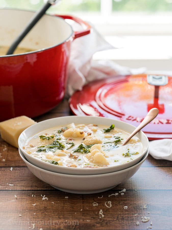 This Cauliflower Zuppa Toscano Soup is crazy delicious and perfect for your low carb diet!