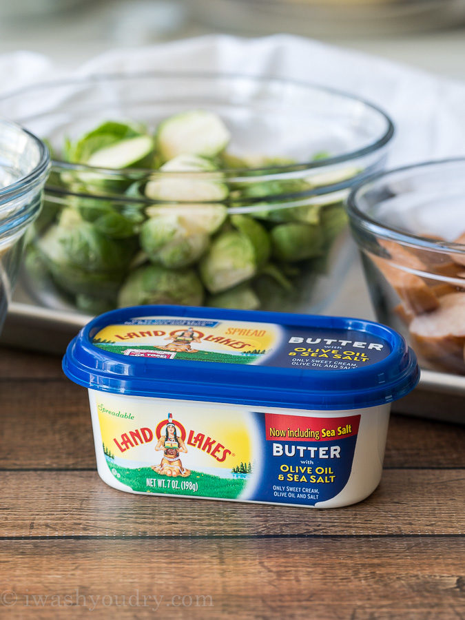 Delicious spreadable Land O Lakes Butter with Olive Oil and Sea Salt